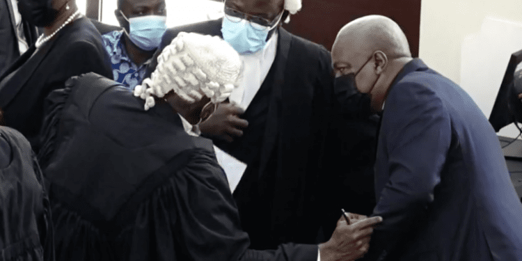 NDC Mahama's lawyers 12 interrogatories for the EC dismissed Supreme Court